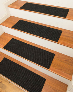 Halton Carpet Stair Treads, Charcoal