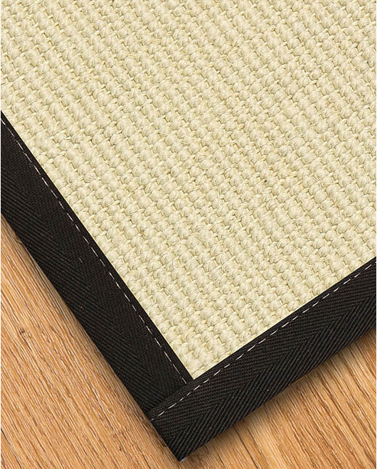 Icon Wool Sisal Rug, Black - Clearance