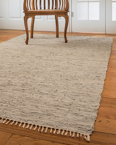 Limassol Leather Rug, Gray