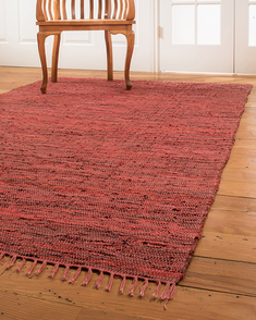 Limassol Leather Rug, Red