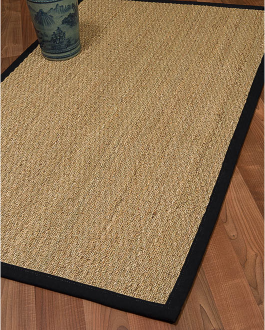 Mayfair Seagrass Rug, Black