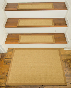Monterrey Carpet Stair Treads (w/optional Landing Mat), Khaki