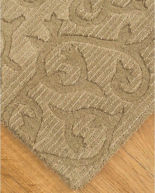 Napoli Patchwork Wool Rug, Light Tan - Clearance