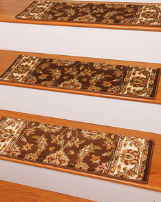Sydney Traditional Style Carpet Stair Treads, Chocolate