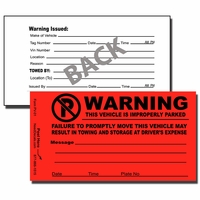 PV-01 - No Parking Sticker - Parking Violation Sticker-Tow Away