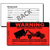PV-02 - No Parking Sticker - Parking Violation Sticker-Tow Away