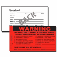 PV-03 - Parking Violation Stickers - Tow Away