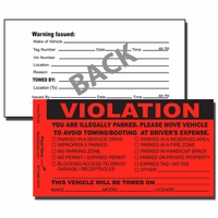 PV-04 - Parking Violation Stickers - Tow Away