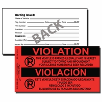 PV-05 - Parking Violation Stickers - Bilingual