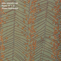 """2 4/8 Yard Remnant of """"Billow - Sunset Beach"""" Outdoor Floral Stripe Upholstery Fabric from Architex� International"""