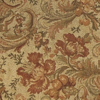 """Amber and Pine - Autumn"" Beautiful Floral Tapestry Upholstery Fabric"