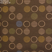 """Amuse - Mocha"" Circle Upholstery Fabric from Momentum Textiles"