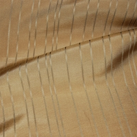 """Taffeta Stripe - Yellow"" Classic Antique Gold Silk Striped Drapery Decor Fabric"