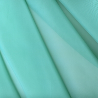 """French Voile - Teal"" Solid Aqua Sheer Fabric for Home Decor  Drapery by Bel Air"