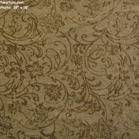 """Argentina - Ivy"" Ultrasoft Green Floral Chenille Decor Fabric"