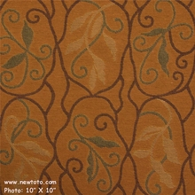 """Balustrade - Tobacco"" Durable Upholstery Fabric with a Vine Design from Maharam Fabric Co"
