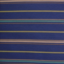 """Banda - Lapis Lazuli"" Colorful Herringbone Stripe Upholstery Fabric from Designtex"