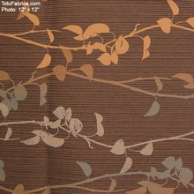 """""""Banter - Toffee"""" Floral Upholstery Fabric from Momentum Textiles"""