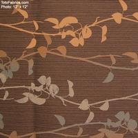"""Banter - Toffee"" Floral Upholstery Fabric from Momentum Textiles"