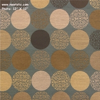 """Bauble - Color 44"" Designer Upholstery with Circles from Carnegie Fabrics"