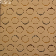 """Bias - Au Lait"" Circle Upholstery Fabric from Momentum Textiles"