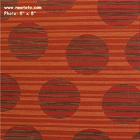 """Big Dot - Orange with Red"" Crypton Green� Upholstery Fabric from Sina Pearson Textiles"