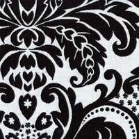 """Ena - Classic"" Elegant Black and White Damask Upholstery Fabric from Kalin"