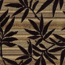 """Rayburn - Vintage"" Black Bamboo Leaf Upholstery Fabric by Swavelle/Mill Creek"