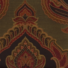 """Dromic - Spice"" Equisite Black and Red Damask Fabric for Upholstery from Kalin"