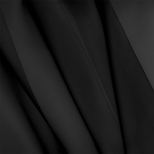 """French Voile - Noir"" Sheer Black Fabric for Drapery Home Decor from Bel Air"
