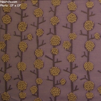 """Blossom - Eggplant"" Abstract Floral Stripe Design Upholstery Fabric from Arc-Com Fabrics, Inc"