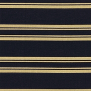 """Country Stripe - Navy"" Blue and Beige Cotton Stripe Print for Home Decor Fabric"