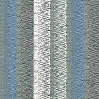 """Wind Kraft - Sky"" Blue Stripe Chevron Decor Fabric by Bernhardt Textiles"