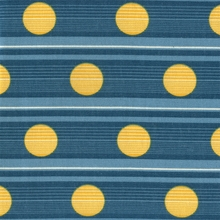 """Route - Nautical"" Blue Stripe Yellow Dot Fabric Decor Print from Bernhardt Textiles"