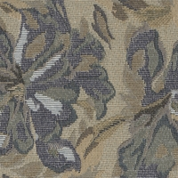 """Maria - Sprinkle"" Splendid Blue Taupe Floral Tapestry Fabric by Hafner, Inc"