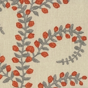 """Prasana - Saffron"" Botanical Designer Fabric Print for Home Decor by Duralee"