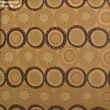 """Bottle Bank - Flax"" Durable Circle Design Upholstery Fabric from Designtex�"