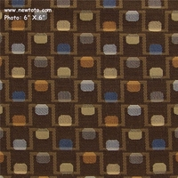 """Bridge and Tunnel - Chocolate"" Geometric Fabric for Upholstery from Designtex�"
