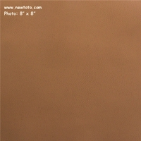 """Bronco - Cocoa"" Solid Faux Leather Upholstery Fabric from Arc-Com Fabrics, Inc"