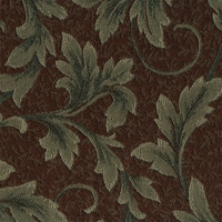 """Jasna - Sienna"" Lovely Brown and Green Botanical Leaf Tapestry Fabric"