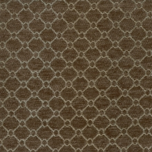 """Bernstein - Cobblestone"" Brown Lattice Upholstery Fabric from Richloom Fabrics"