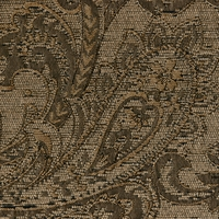 """Delacourt - Metal"" Timeless Brown Paisley Upholstery Fabric by Chambers Fabric"