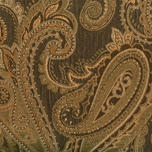 """Pavi - Saddle""  Paisley Scroll Upholstery Fabric by Swavelle/Mill Creek Hospitality"