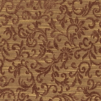 """Rainer � Merlot"" Lovely Brown Scroll Fabric for Furniture Upholstery"