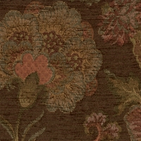 """Frangelica - Chocolate"" Lovely Brown Floral Tapestry Fabric by Robert Allen"
