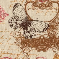 """Meritage - Sunset"" Enchanting Butterfly Fabric Print for Decor by Microfibres"