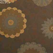 """Cassava - Turnip"" Crypton� Fabric with Scrolls and Flowers from Designtex�"