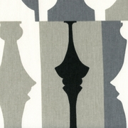 """So Silhouette - Tuxedo"" Designer Chess Print Fabric for Home Decor by Waverly"