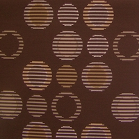"""Cirque - Bark"" Circle Design Crypton Fabric for Upholstery from Arc-Com Fabrics, Inc"