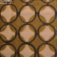 """Composition - Bamboo"" Upholstery Fabric with Circles and Diamonds from Pallas� Textiles"